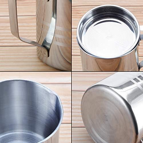 Edelstahl Speck Fettbehälter mit Sieb Sieb, 1,2 l / 5 Tassen Kochen Öl Keeper Aufbewahrungsdose für Küche