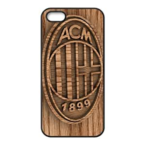 AC Milan iPhone 5 5s Cell Phone Case Black CVXEYERTE00353 Cell Phone Case Protective Plastic