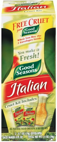 Dressing Mix (Good Seasons Italian Dressing Mix, 2 Packages with Cruet, 1.4 Oz. Net)