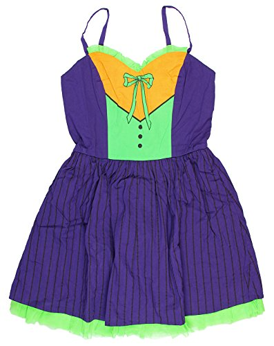 DC Comics The Joker Tule Juniors Purple Costume Dress (Small)