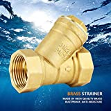 """1"""" BSPP Y Shaped Brass Strainer Filter Valve Female Thread Connector for Water Oil Separation"""