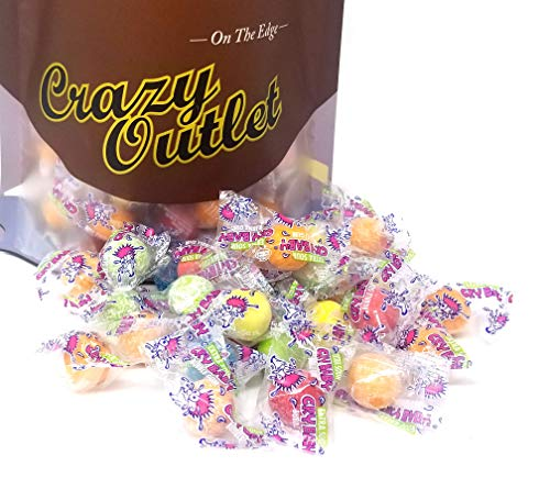 CrazyOutlet Pack - Cry Baby Extra Sour Bubble Gum, Individually Wrapped Chewing Gumballs, 2 - Baby Sour Extra Cry