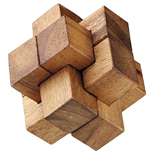 BRAIN GAMES Burr Wooden Puzzle (2 Inches)