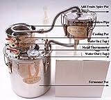 New 3 Pots DIY 2 Gal 10 Litres Alcohol Moonshine Ethanol Still Spirits Stainless Steel Boiler Water Distiller Wine Brandy Making Kit
