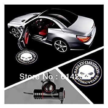 pair car led welcome light glow door lamp bulbs ghost shadow logo rh amazon co uk Harley-Davidson Bathroom Harley-Davidson Bathroom