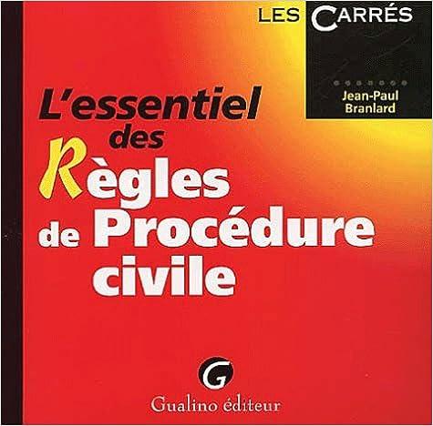 Livres L'essentiel des règles de procédure civile pdf