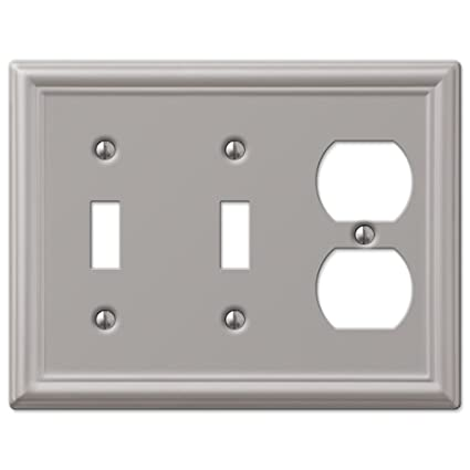 Double Toggle And Duplex Combination Wall Switch Plate Outlet Cover