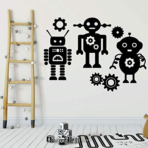 Robots Wall Decal for Boys - Vinyl Sticker for Children's Room or Playroom Decoration