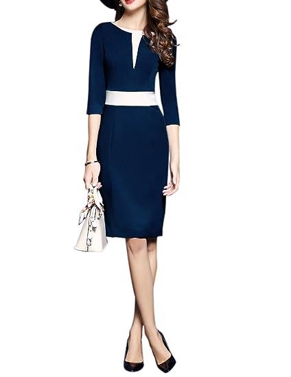 Vestido Formal De Trabajo Para Las Mujeres Vestido Delgado