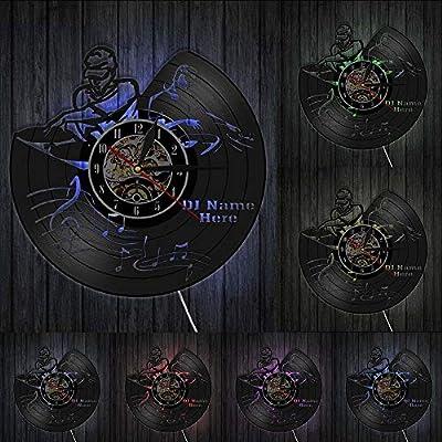 Vandelkt Reproductor De Discos Mezclador DJ Reloj De Pared Deejay ...