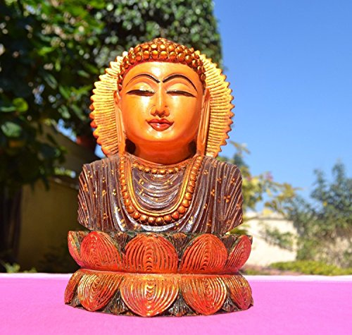 AapnoCraft TALL Buddha Statue Buddha Head On Lotus Sculpture