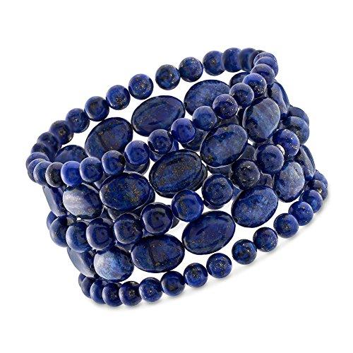 Ross-Simons Lapis Jewelry Set: Five Bead Stretch Bracelets