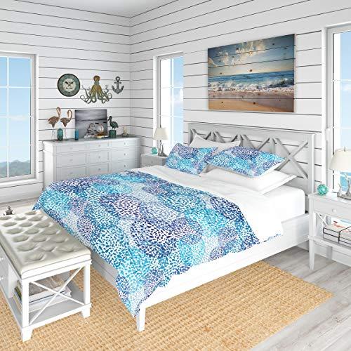 Designart Sea Motif Pattern-Nautical & Coastal Duvet Cover King Bedding Set, 2 Sham, ()