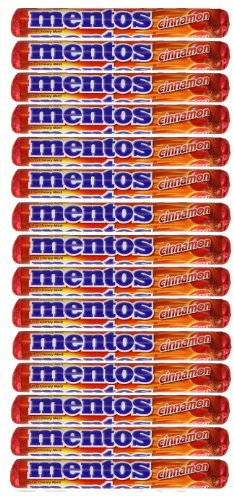 Mentos Cinnamon the Chewy Mints Naturally and Artificiall...