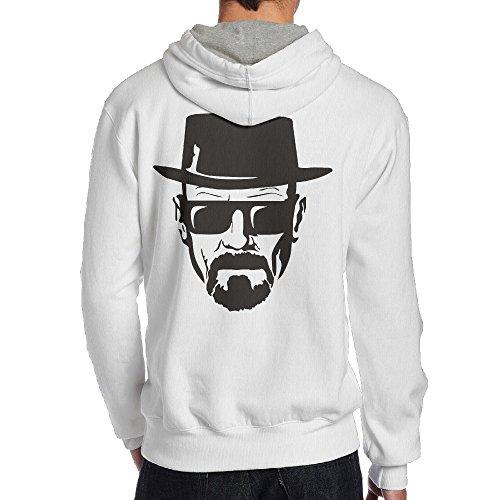 SAMMOI Breaking Bad Heisenberg Face Men's Hooded Sweatshirt S White