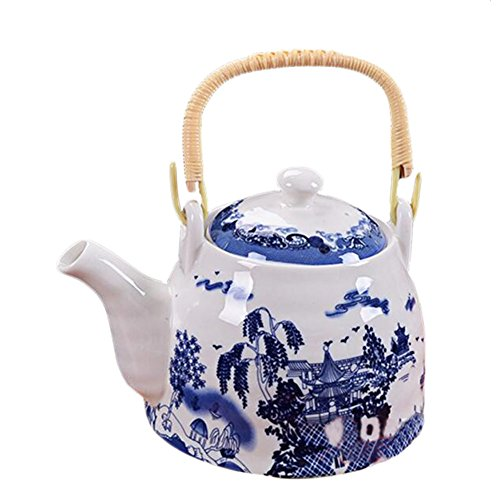 George Jimmy Blue and White Porcelain Teapot Chinese Style T
