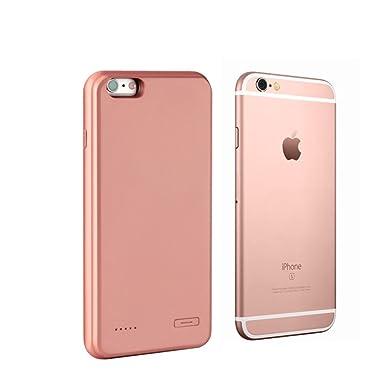 iPhone 6/iPhone 6s/Plus battery Power Case (ultrafina, ligera carcasa de Backup Power Cargador de batería externa para iPhone 6/6S/Plus, oro rosa, ...