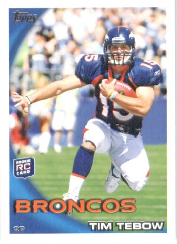 Tim Tebow Football (2010 Topps Football Rookie Card #440 Tim Tebow Denver Broncos In a Protective ScrewDown Case!)