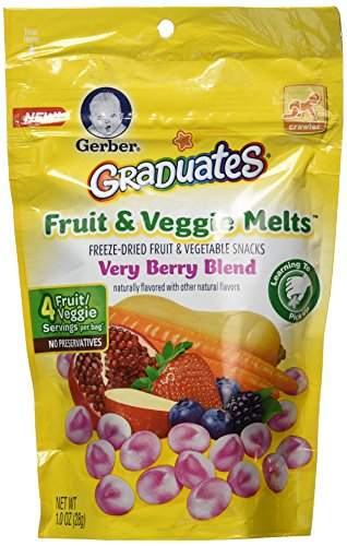 Gerber Graduates Fruit & Veggie Melts - Very Berry Blend, 1-Ounce (Pack of 4)