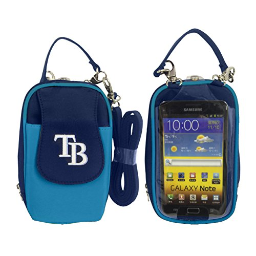 Tampa Bay Rays Window - Charm14 MLB Tampa Bay Rays Crossbody Cell Phone Purse XL -Fits All Phones