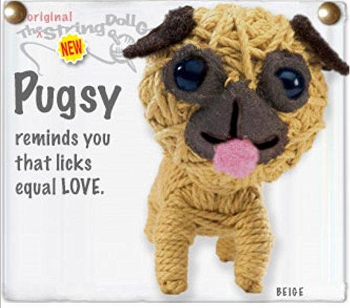 - Kamibashi Pugsy Pug Puppie Dog The Original String Doll Gang Keychain Clip