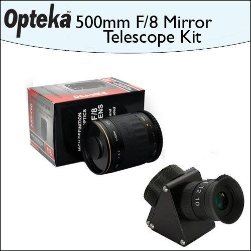 Opteka 500mm f/8 HD Telephoto Mirror Lens + Lens Converter To Telescope Kit by Opteka