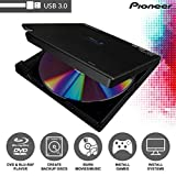 Pioneer BDR-XD05B Blu-Ray Player & Burner - 6X Slim Portable External BDXL, BD, DVD & CD Drive for Windows & Mac with 3.0 USB - Write & Read + Includes CyberLink Media Suite 10