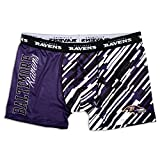 KLEW NFL Baltimore Ravens Wordmark Underwear, Black, Small