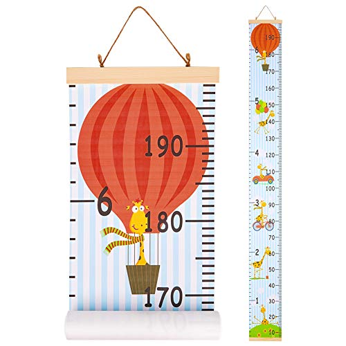 QtGirl Kids Growth Chart, Height Chart for Child Height Measurement Wall Hanging Rulers Room Decoration for Girls, Boys, Toddlers]()