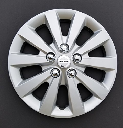 MARROW One New Replacement Fits 2013 2014 2015 2016 Nissan Sentra Style 16'' Hubcap Wheel Cover,10 Spoke, Silver, Plastic,Spring Steel Clip (Wheel Plastic Cover)