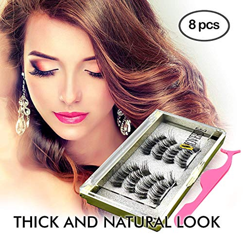8 PCS Magnetic Eyelashes, DIOVERDE Three Magnetic Eyelashes,