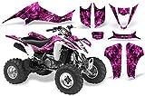 CreatorX Suzuki Ltz 400 Graphics Kit Decals Inferno Pink