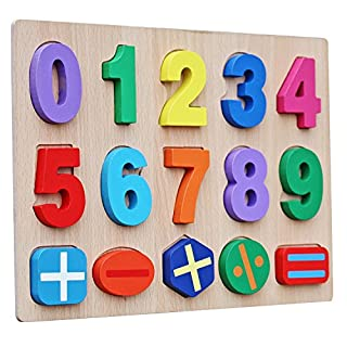 Timy Kids Numbers Wooden Learning Puzzle Board
