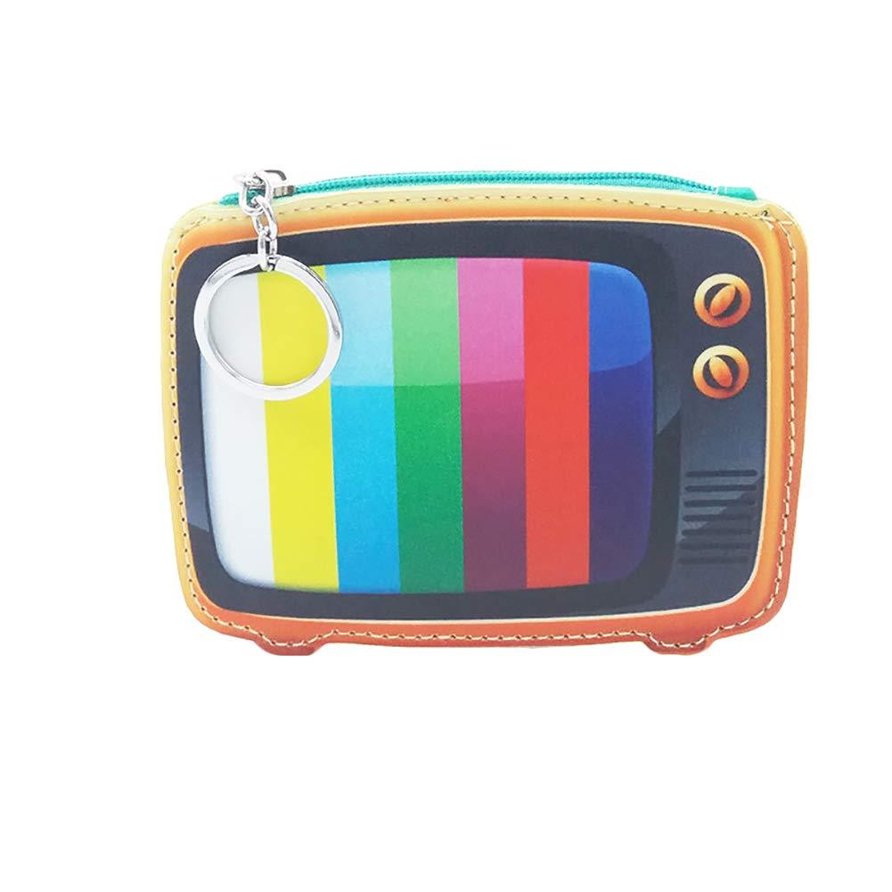 JUNGEN Monedero televisión Retro Billetero de Dibujos ...