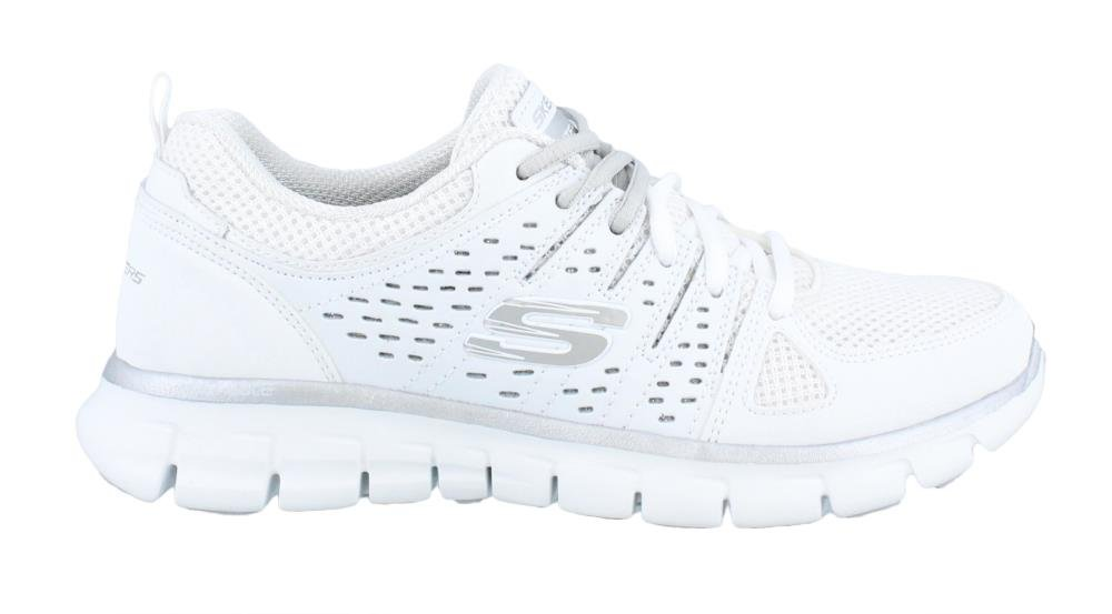 Skechers Sport Women's Synergy Look Book Fashion Sneaker B01B62UXJI 8.5 B(M) US|White/Silver
