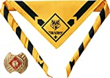 "Official Cub Scouts ""Wolf"" Uniform Scarf Neckerchief with Slide"
