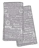 HOTEL Paris 1675 2PK K/TL Kitchen Towel, 20x28, Grey, 2 Piece