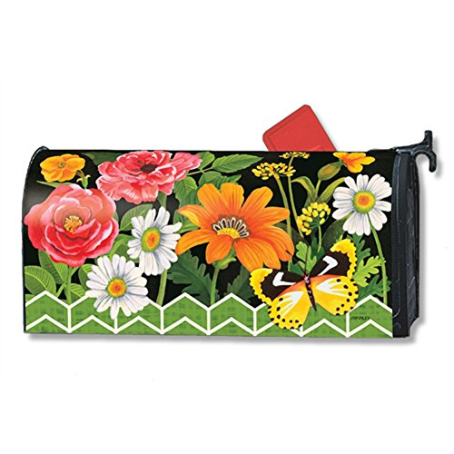 Fancy Floral Magnetic Mailbox Cover - LARGE SIZE by Magnet Works - Studio M