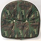 Camouflage T295CAM Camo Tractor Pan Seat Cover Made For Ford John Deere Massey MF +