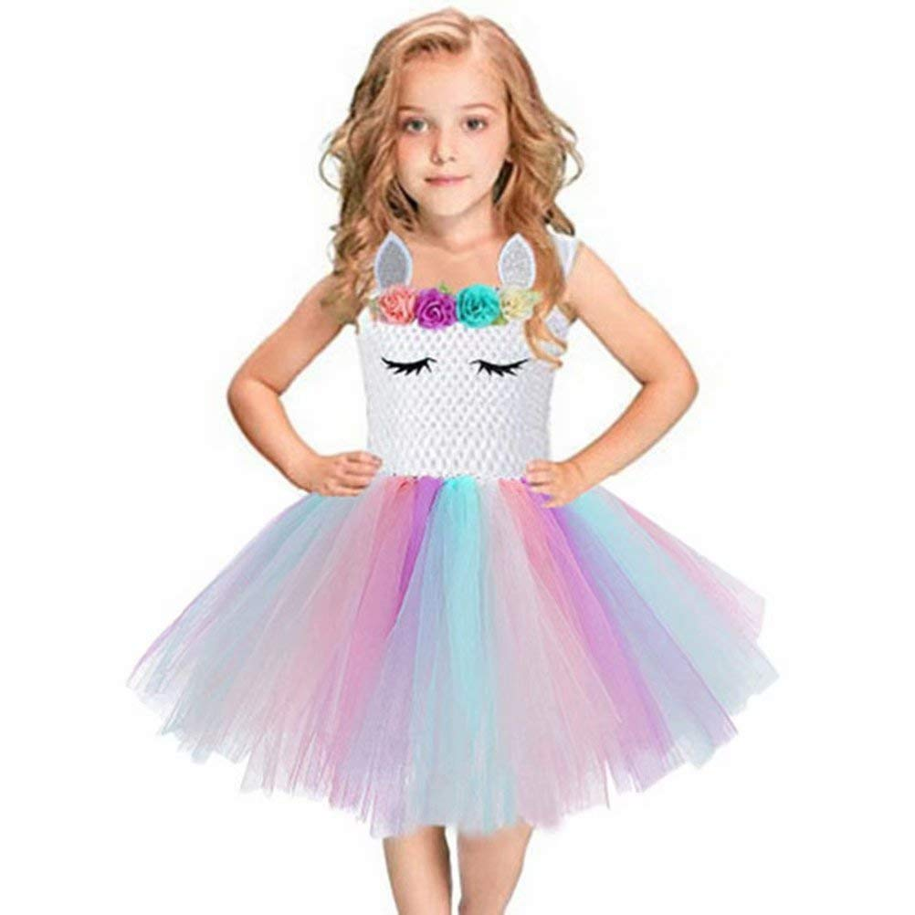 Baby Girls Sequin Princess Dress Sleeveless Tutu Tulle Special Occassion Dresses Headband/Bow Tie