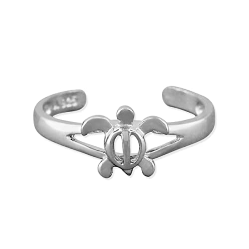 Jewelry & Watches Sterling Silver 925 Hawaiian Honu Sea Turtle Plumeria Flower Open Toe Ring Non-Ironing Toe Rings