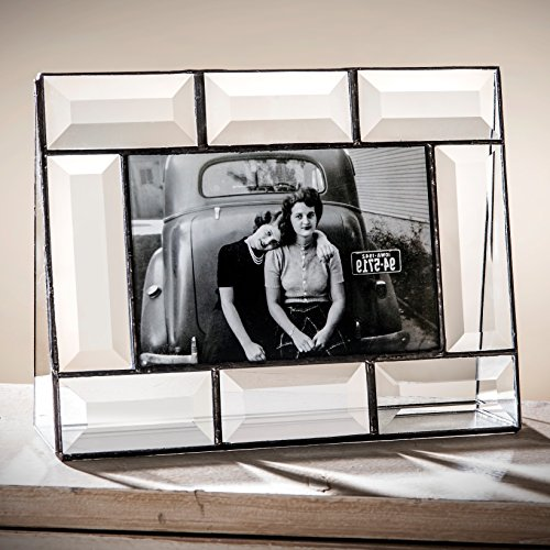 J Devlin Pic 112-46H 4x6 Crystal Glass Picture Frame Clear Beveled Glass Horizontal - Picture Crystal Frames Clear Signatures