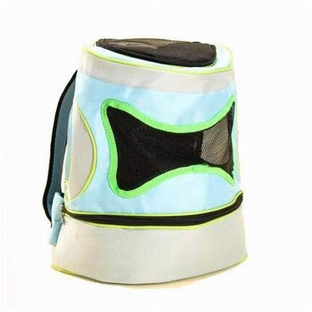 bluee Small bluee Small Maybesky Pet Travel Carrier Oxford Cloth Super Breathable Pet Bag Portable Teddy Dog Chest Backpack Collapsible (color   bluee, Size   S)