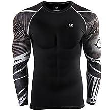 Zipravs Compression Shirts For Men Long Sleeve Crossfit Jiu Jitsu Base Layer