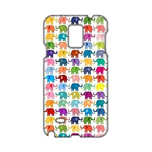 Evil-Store Cartoon colorful elephant 3D Phone Case for Samsung Galaxy Note4