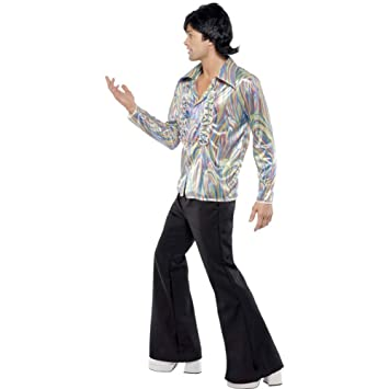 Smiffys - Disfraz de disco años 70s para hombre, talla M (33841 md)