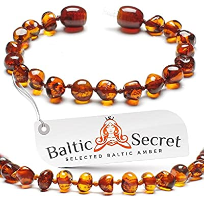 Bracelet or Anklet for Boys and Girls - Genuine Baltic Amber Beads - 100% Naturall - 5.3 inch CGN.P-BRQ : Baby