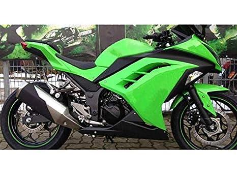 Moto OnFire Verde Plástico Negro ABS Inyección carenado Kit ...