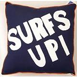 Pem America Catch a Wave Surfs Up Pillow- Blue