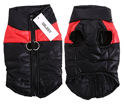 Please Adopt Me Costume (QBLEEV Dog Clothes Puppy Vest Pet Dogs Cotton Jacket Outfit Winter Fall for Cold Weather Padded Suit Warm Thicken Zipper Small Medium Large Skiing Coat 5 Sizes Available Red (S))